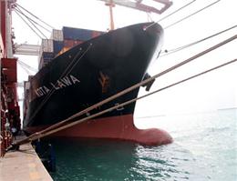 پایان تخلیه و بارگیری کشتی سنگاپوری در بندر شهیدرجایی