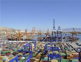 چین مسیر انتقال کانتینر در یونان را تغییر داد