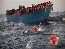 مهاجران در مدیترانه نجات پیدا کردند